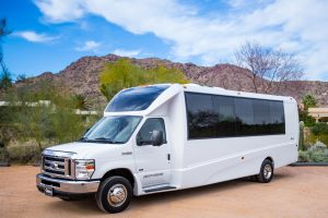 Shuttle Transportation Private Parties 31 Passenger Outside View