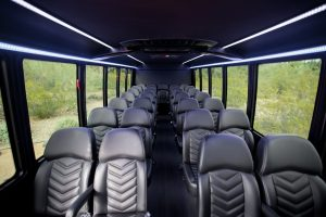 Shuttle Bus Transportation in Phoenix Inside View 31 Passenger